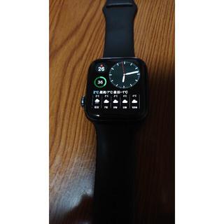 Apple Watch - 美品 Apple Watch 5世代 44mm アルミ ブラック Wiflモデル