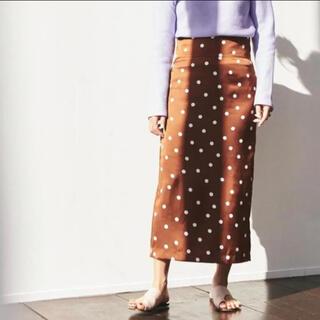 TOMORROWLAND - TOMORROWLAND マカフィー 金子綾コラボ ドットタイトスカート