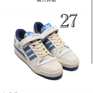 adidas - アディダスフォーラムロー ブライトブルー新品27cm