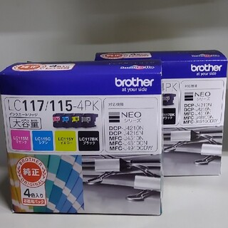 brother - ブラザー純正インク  LC117/115-4PK 2個