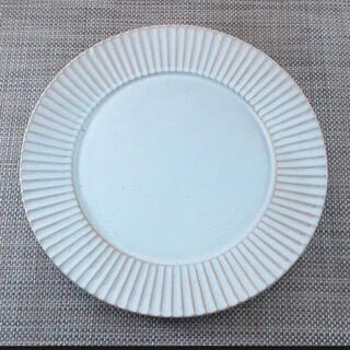 3枚 カフェ プレート おしゃれ 美濃焼 華蝶扇大皿(白釉)しのぎ 和食器 陶器