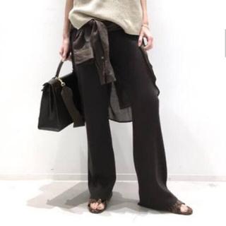 L'Appartement DEUXIEME CLASSE - L'Appartement アパルトモン New Knit パンツ ブラウン