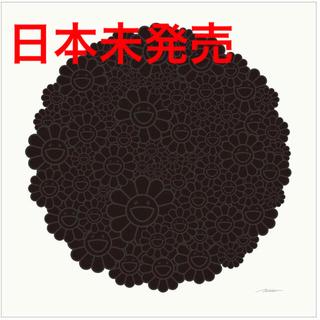 村上隆 ポスター Black Flowers Round ブラックフラワー(版画)