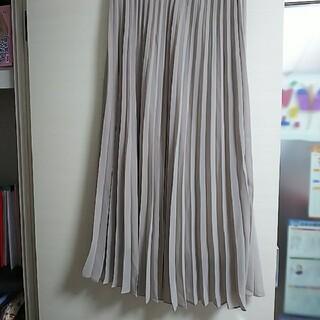 UNIQLO - ユニクロ ロングスカート プリーツ  グレージュ Mサイズ