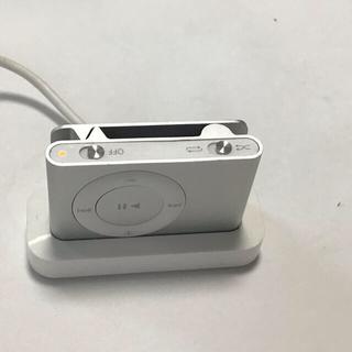 アップル(Apple)のiPod shuffle 2世代 1GB 稼働品 シルバー3(ポータブルプレーヤー)