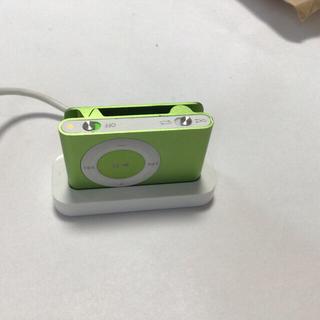 アップル(Apple)のiPod shuffle 2世代 1GB 稼働品 イエローグリーン(ポータブルプレーヤー)