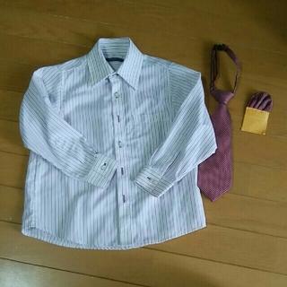 アカチャンホンポ(アカチャンホンポ)のフォーマルシャツ&ネクタイ&ポケットチーフ 110(ブラウス)