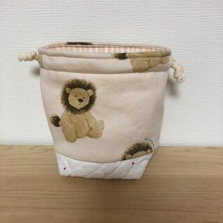 ジェラートピケ(gelato pique)のジェラートピケ ライオン 巾着 コップ袋 ハンドメイド(外出用品)