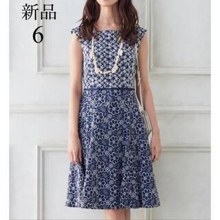 TOCCA - 新品 TOCCA MELLOW ドレス 6 ランドリーライン 花柄 刺繍