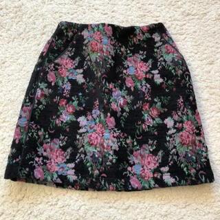 ページボーイ(PAGEBOY)の花柄台形スカート(ひざ丈スカート)