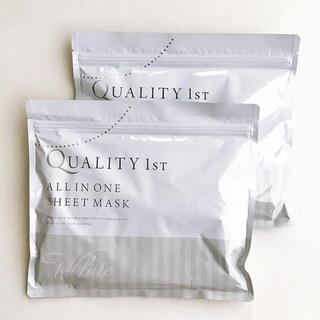 クオリティファースト(QUALITY FIRST)の値下【2袋】クオリティファースト オールインワンシート<ホワイト>(パック/フェイスマスク)