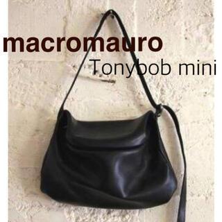 macromauro - 超美品☘マクロマウロ☘がま口 レザーバッグ トニーボブ ミニ 黒 ブラック