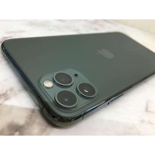 Apple(アップル)のiPhone11ProMAX 256GB  グリーンSIMフリー スマホ/家電/カメラのスマートフォン/携帯電話(スマートフォン本体)の商品写真