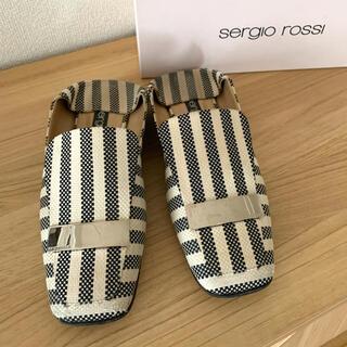 セルジオロッシ(Sergio Rossi)の【sergio rossi】sr1 ホワイト×ブラック サイズ38 スリッポン(スリッポン/モカシン)