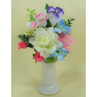 ◆仏花・造花◆SS デンファレ・ローズ(ホワイト)(その他)