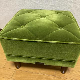 カリモクカグ(カリモク家具)のカリモク60 オットマン モケットグリーン Kチェア ソファ(オットマン)