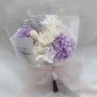 パープル系 ドライフラワー 花束 ブーケ スワッグ ギフト (ドライフラワー)