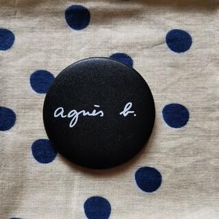 agnes b. - アニエスベー レザーロゴバッジ