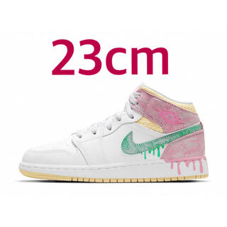 "NIKE - NIKE GS AIR JORDAN 1 MID ""PAINT DRIP"""