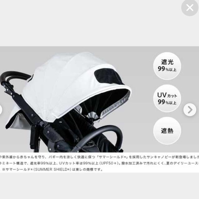 AIRBUGGY(エアバギー)のエアバギー サマーシールド キャノピー キッズ/ベビー/マタニティの外出/移動用品(ベビーカー用アクセサリー)の商品写真