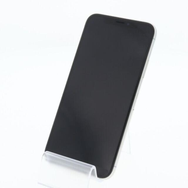 iPhone(アイフォーン)の【B】SIMフリー au iPhoneX 64GB シルバー スマホ/家電/カメラのスマートフォン/携帯電話(スマートフォン本体)の商品写真