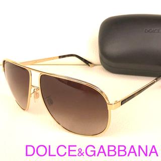 DOLCE&GABBANA - 美品 DOLCE&GABBANA ドルガバ サングラス ティアドロップ ゴールド