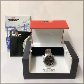 ティソ(TISSOT)のTISSOT ティソ クロノグラフ クォーツ メンズ腕時計 電池交換済み(腕時計(アナログ))