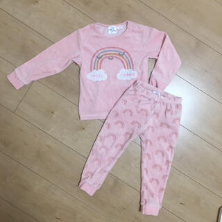 ZARA KIDS - 98サイズ ZARA baby 虹 レインボー ピンク ベロアパジャマ