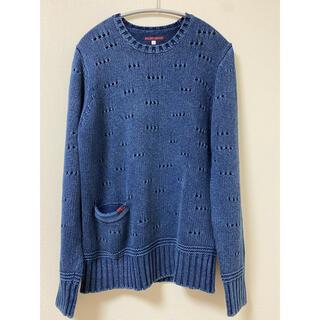 ブルーブルー(BLUE BLUE)のBLUEBLUE インディゴ ニット(ニット/セーター)
