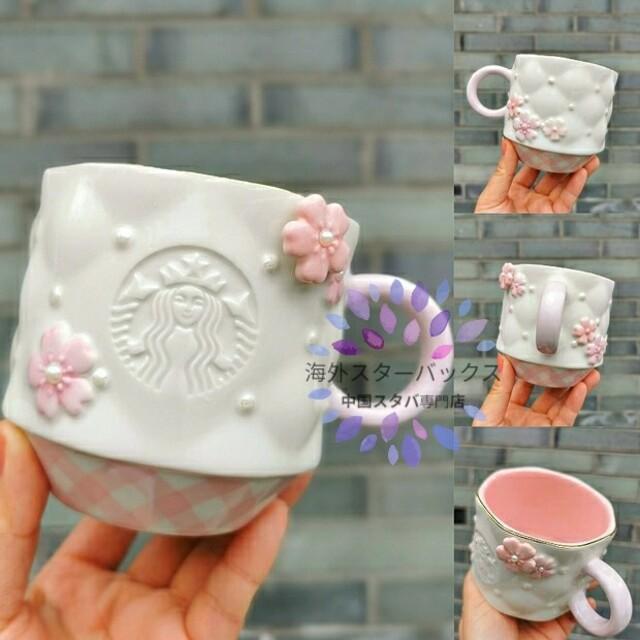 Starbucks Coffee(スターバックスコーヒー)のののの様専用ページ⑱340ml 陶器製 桜マグカップ  インテリア/住まい/日用品のキッチン/食器(グラス/カップ)の商品写真