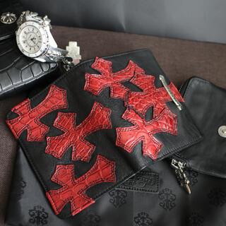 Chrome Hearts - 【唯一無二】カスタム クロムハーツ ジョーイ クロスパッチ 財布 アリゲーター