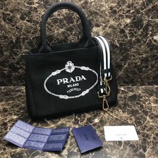 PRADA - プラダ カナパM キャンバス ブラック トートバッグ#22341