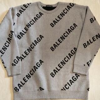Balenciaga - BALENCIAGA 19AW バレンシアガ ロゴクルーネック ニット セーター