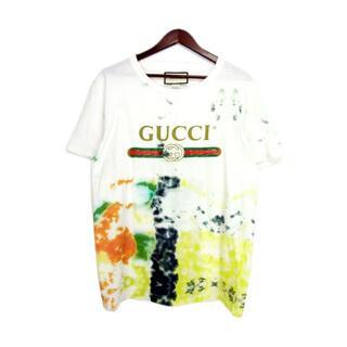 Gucci - グッチGUCCI■17AWオールドロゴタイダイTシャツ