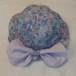 petit main - プティマイン 大リボン首ガード付 帽子50cm 2歳程度