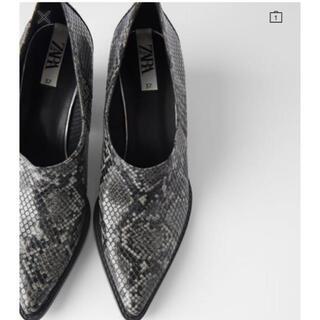 ZARA - ZARA ザラ アングル ブーツ ヘビ 蛇 靴