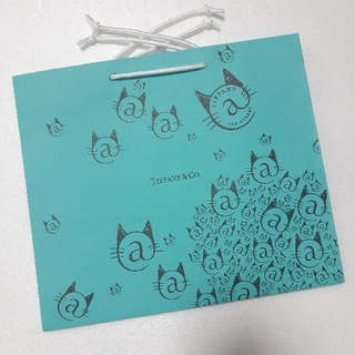 Tiffany & Co. - ティファニー @キャットストリート 限定 ショップ袋(中) 紙袋