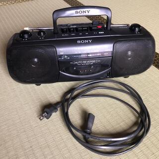 ソニー(SONY)のスピーカーの大きいラジオ(ラテカセのカセットコーダが壊れています)(ラジオ)