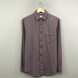 ラコステ(LACOSTE)のラコステ LACOSTE 長袖 シャツ 厚手 グリーンワニ 緑ワニ 胸ポケット(シャツ)