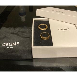 celine - CELINE セリーヌ ゴールドリングセット アニマル&カーブド 13号 エディ