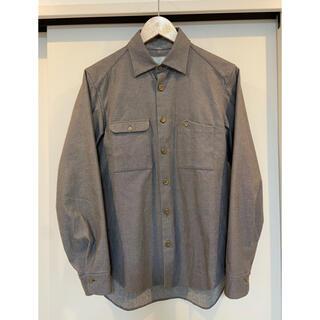 Paul Harnden - 【Araki yuu】シャツ 真鍮ボタン グレー  定価約6万