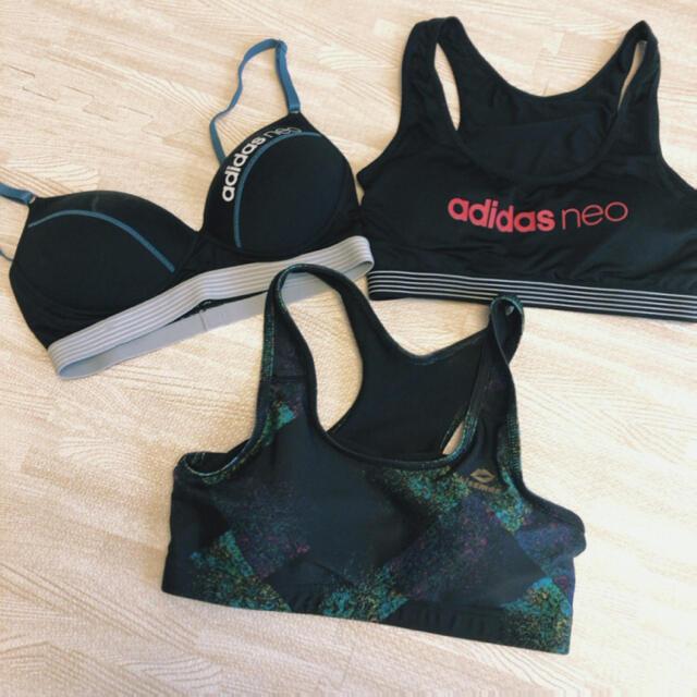 adidas(アディダス)のスポーツブラセット スポーツ/アウトドアのトレーニング/エクササイズ(その他)の商品写真