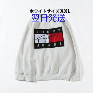 TOMMY HILFIGER - ホワイトXXL/ Tommy Hifiger/Tシャツ長袖