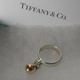Tiffany & Co. - ティファニー  ゴールドボールリング