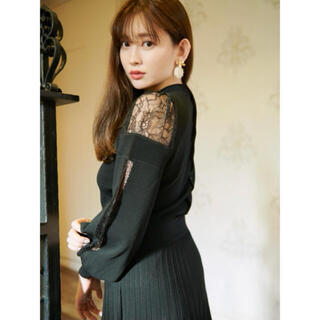 snidel - Herlipto♡Shoulder Lace Knit Dress