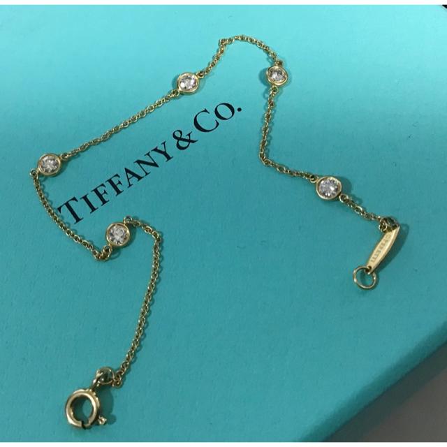 Tiffany & Co.(ティファニー)のティファニーTiffany バイザヤード ブレスレット 5粒 ステーションk18 レディースのアクセサリー(ブレスレット/バングル)の商品写真
