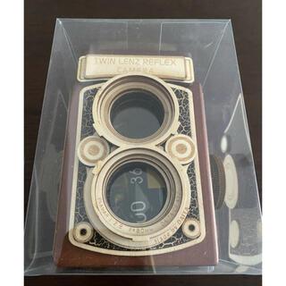 カルディ(KALDI)のKALDI カルディ レフレックスカメラ カメラ缶 木箱 木製カメラ チョコ入り(小物入れ)