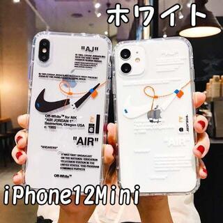 【新品未使用】iPhone12Mini ホワイト 耐衝撃 透明 クリアケース