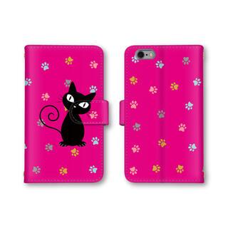マゼンタ 猫 ネコ ピンク スマホケース 手帳型 スマホカバー ほぼ全機種対応(モバイルケース/カバー)