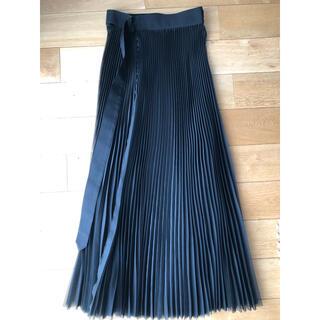ハイク(HYKE)のHYKE プリーツスカート シースルー ブラック サイズ1(ロングスカート)
